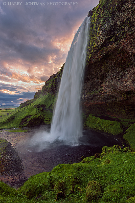 Seljalandsfoss - Under the Midnight Sun - Terrestrial Iceland
