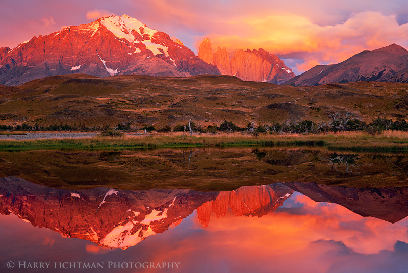 Patagonia South America >> Nuclear Sunrise - Torres del Paine