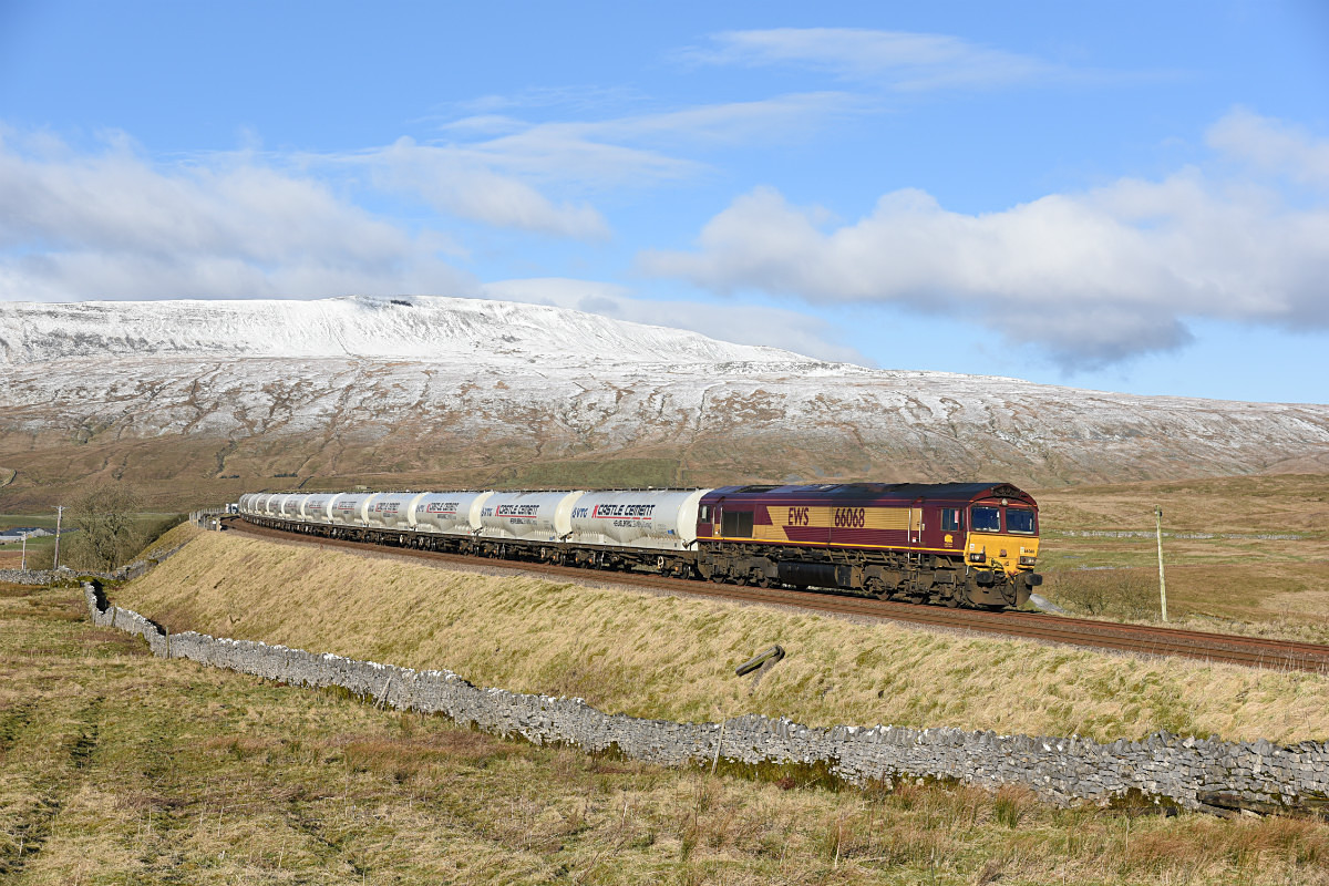 JL - 2.2.18 66068 4M00 Mossend - Clitheroe, Ribblehead - Latest shots