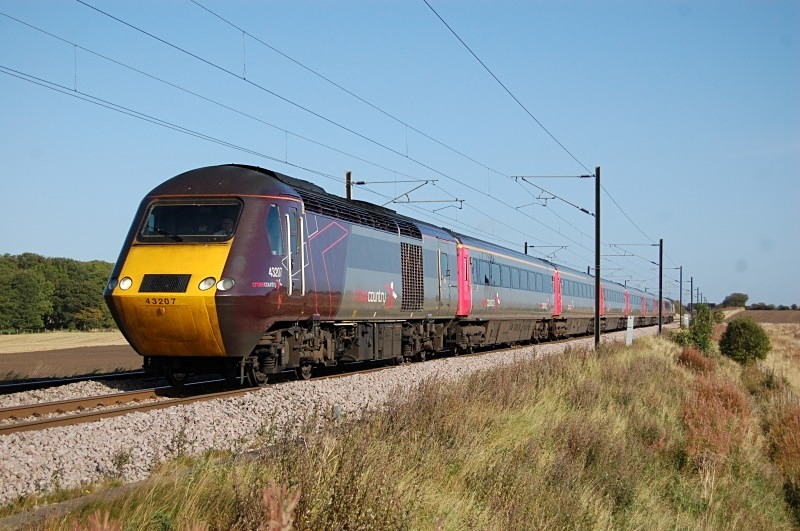 22.9.11 43207 06.01 Glasgow - Plymouth, Mordon - East Coast Main Line