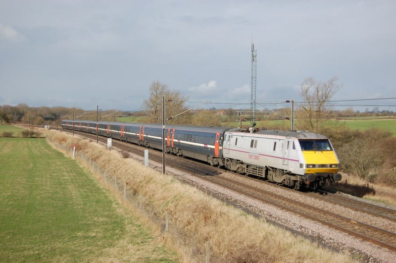 17.3.12 91108 1S05 07.00 Kings Cross - Edinburgh, Ricknall Grange - East Coast Main Line