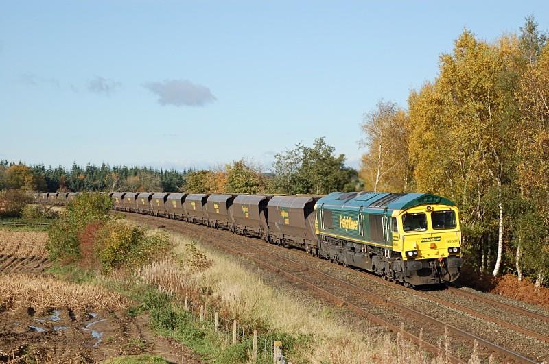 28.10.08 66596 6M31 Ravenstruther - Ratcliffe, Horrocks Crossing - Horrock's Crossing