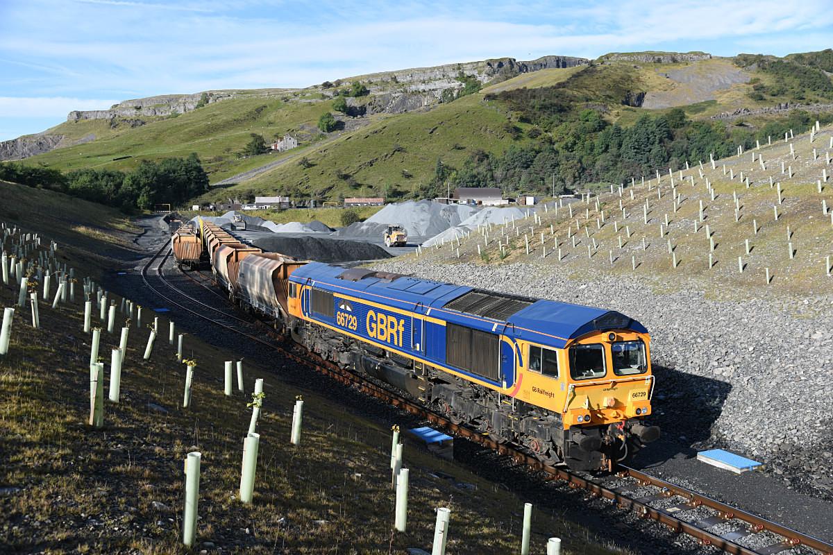 JL - 19.9.17 66729 6M25 Doncaster - Arcow, Arcow Quarry - Arcow branch