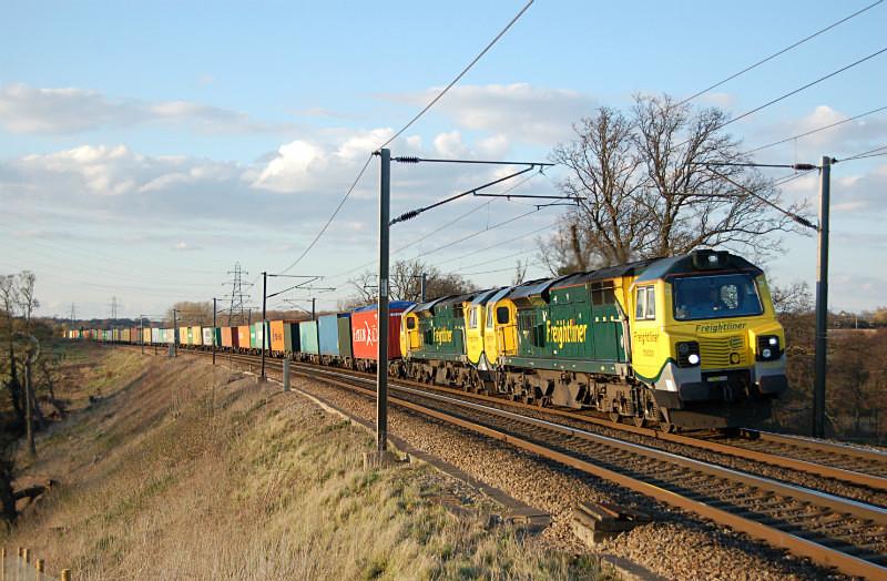 JL - 5.4.16 70020 & 70014 Felixtowe - Coatbridge, Brantham - Elsewhere on the network