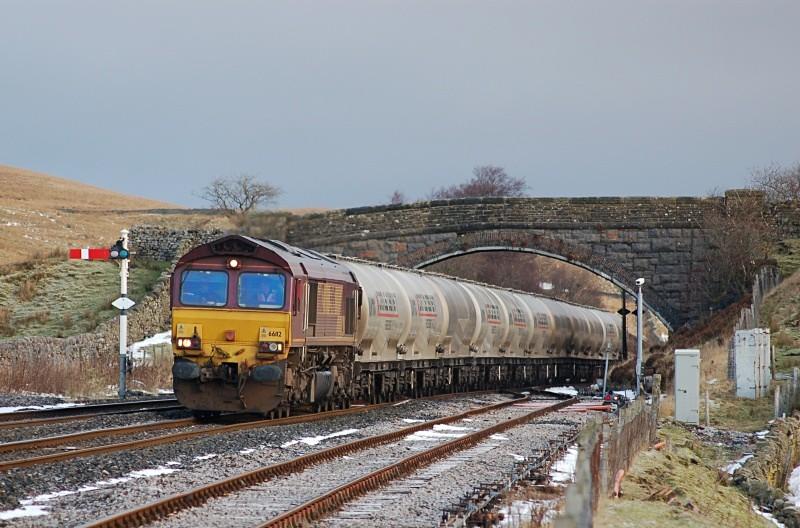 10.12.08 66112 6M00 Mossend - Cllitheroe, Blea Moor - Blea Moor