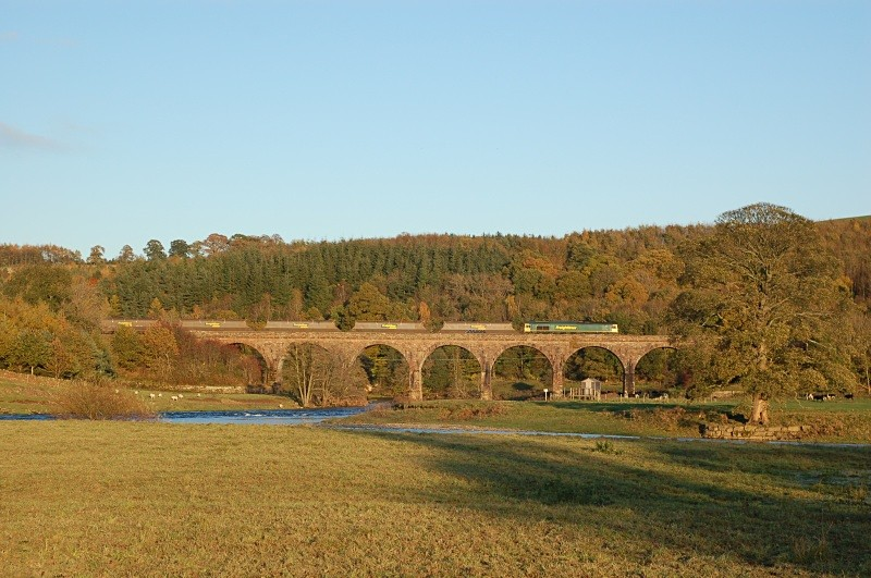 28.10.08 66xxx 6M32 Greenburn - Ratcliffe, Eden Lacy Viaduct - Eden Lacy Viaduct