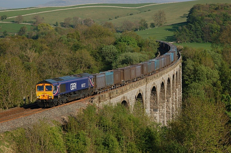 13.5.08 66727 4M91 West Burton - Kirkby Thore, Smardale Viaduct - Smardale viaduct