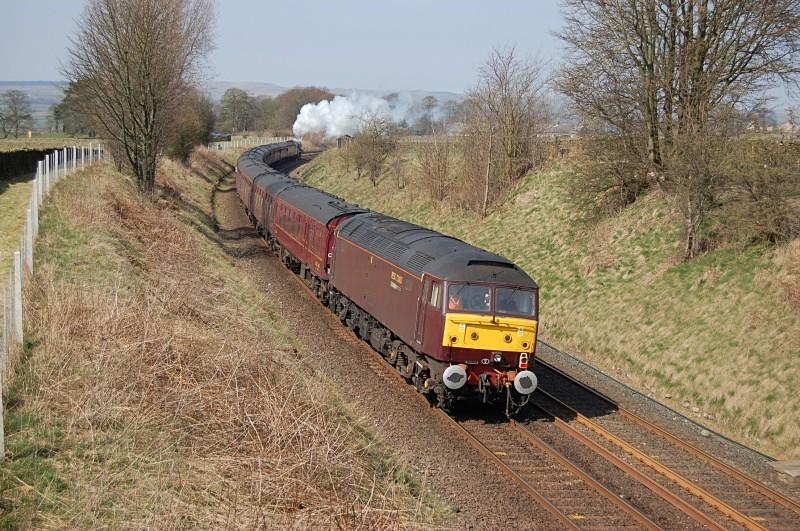 17.4.10 - 47804 (rear) 1Z70 Stevenage - Carlisle tour, Long Preston - Long Preston