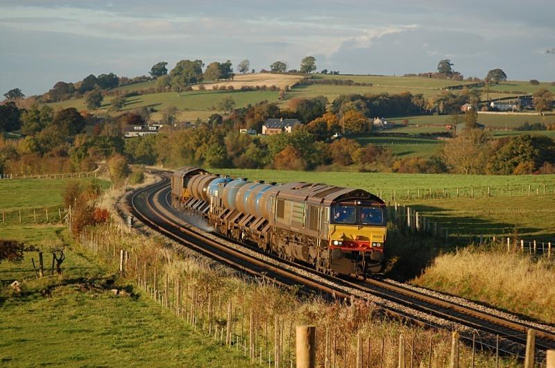 19.10.12 - 66425 & 66422 3J11 Carlisle - Carlisle, Langwathby - Langwathby