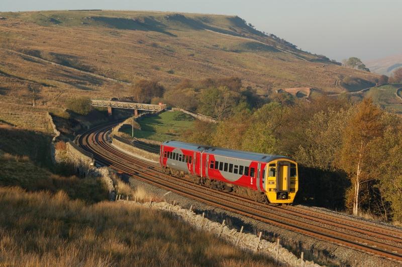 23.10.07 158903 15.05 Carlisle - Leeds Ais Gill Viaduct - Ais Gill - Viaduct