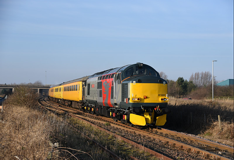 JL - 23.1.17 37608 &37604 1Q05 Derby RTC-Tees Yard, Freemans Crossing - Elsewhere on the network
