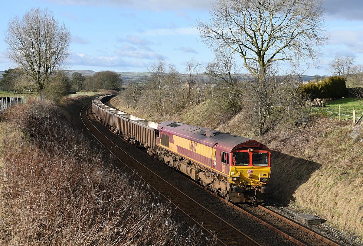JL - 2.2.18 66117 6E95 Kirkby Thore - Hull CT,  Long Preston - Latest shots