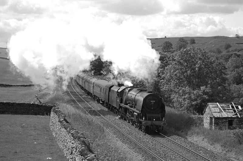 21.7.12 - LMS 'Pacific' 46233 Crewe - Carlisle CME, Helwith Bridge - Helwith Bridge
