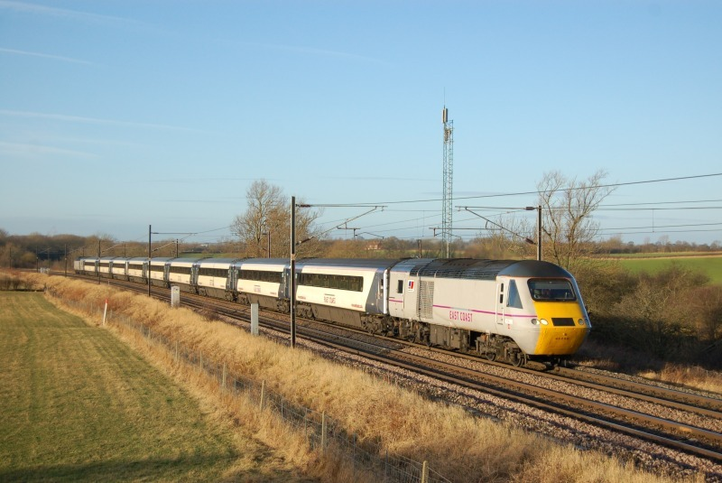 8.1.12 - 43290 & 43308 07.30 Kings Cross - Edinburgh, Ricknall Grange - East Coast Main Line
