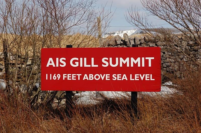 The summit board. - Ais Gill - Summit