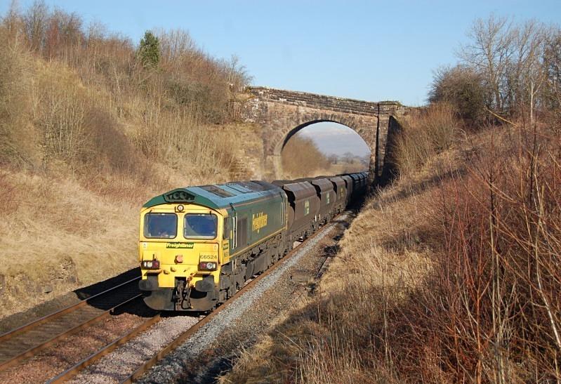 28.2.13 - 66524 6E76 Hunterston - West Burton, Soulby Rd Bridge - Soulby Road Bridge