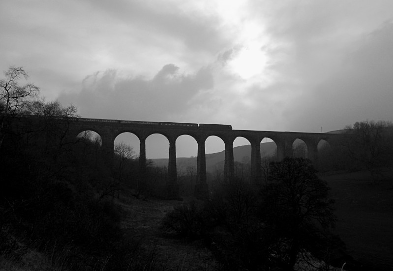 29.3.14 - 573?? 1Z56 Carlisle - Newport, Smardale viaduct - Smardale viaduct