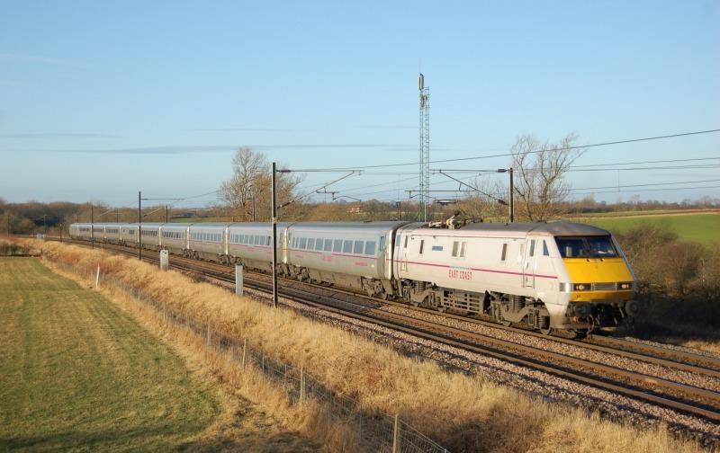 8.1.12 91117 08.00 Kings Cross - Edinburgh, Ricknall Grange - East Coast Main Line