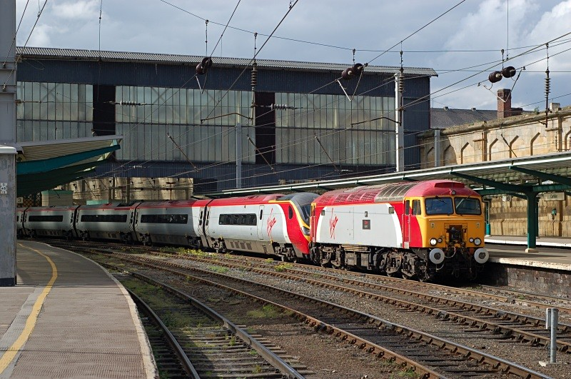 18.5.08 57314 & 390045 1M19 15.05 Glasgow - Euston - Carlisle