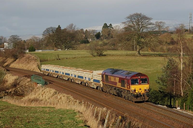 22.1.09 66186 6K05 Carlisle - Crewe, Appleby - Appleby - Causey Brow