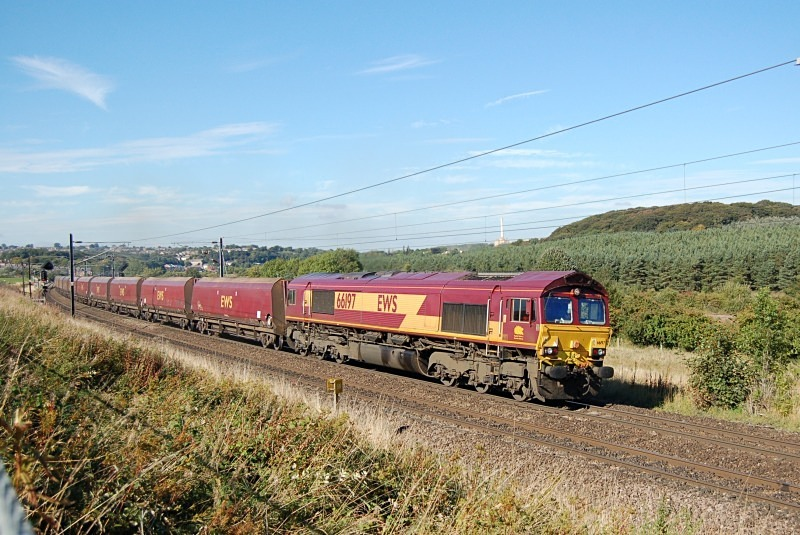 23.9.13 - 66197 Portland Burn - Drax, Ferryhill Junc. - East Coast Main Line