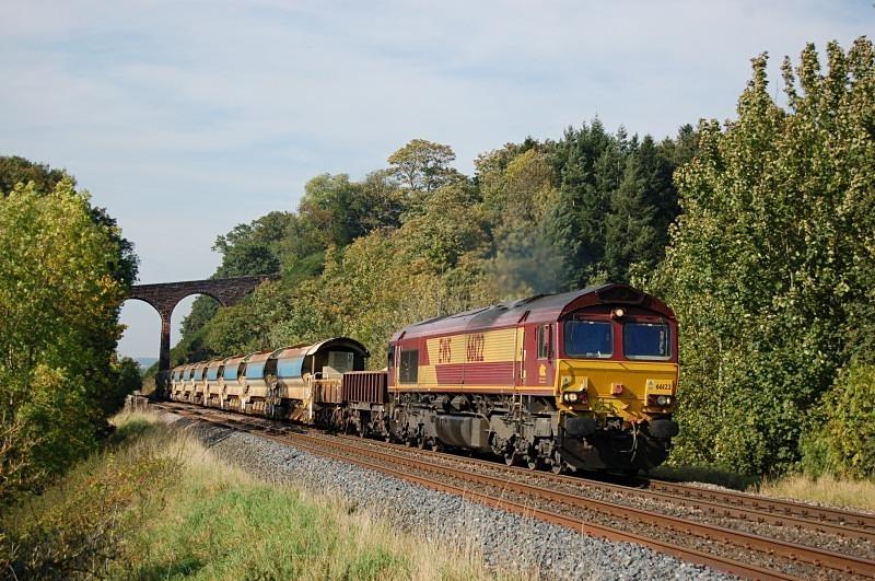 30.9.11 - 66122 6K05 Carlisle - Crewe, Newbiggin - Newbiggin
