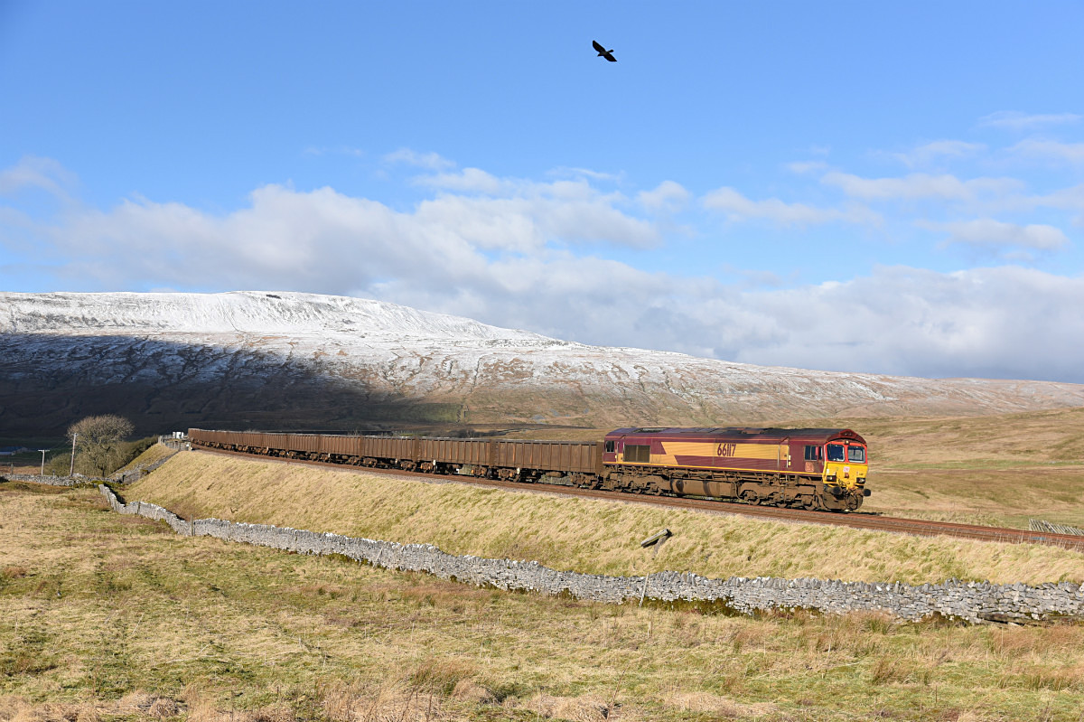 JL - 2.2.18 66117 6E95 Kirkby Thore - Hull CT, Ribblehead - Latest shots