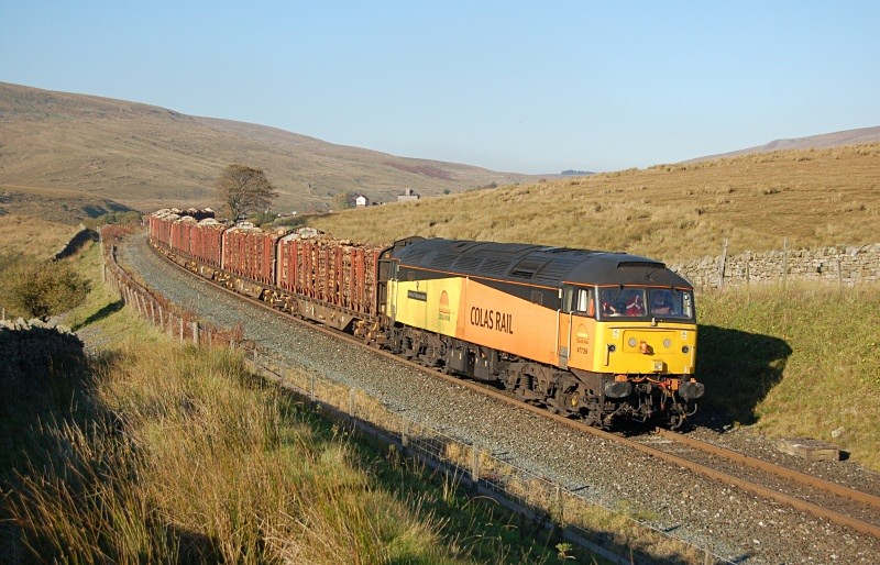 11.10.10 - 47739 4Z41 Ribblehead - Chirk, Blea Moor - Blea Moor