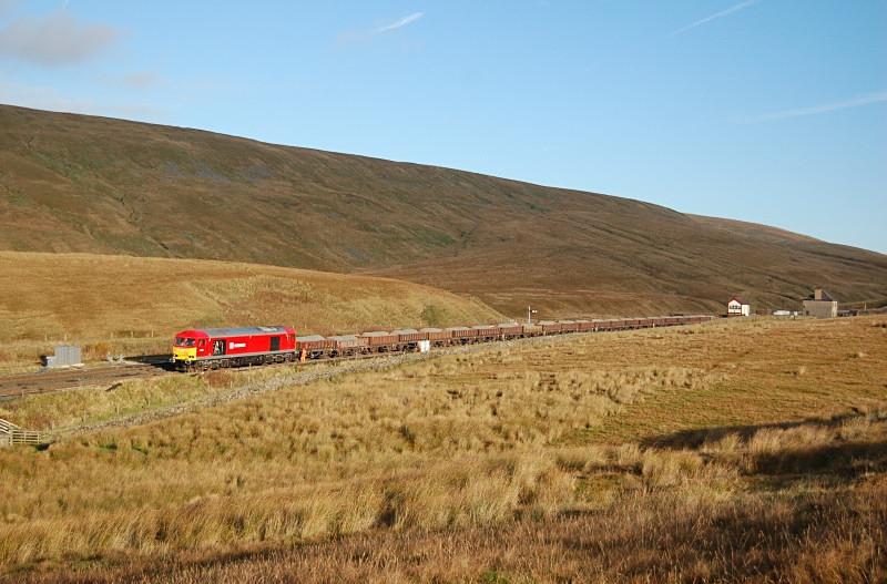 24.10.13 - 60001 6Z61 Ribblehead - Hunslet, Blea Moor - Blea Moor