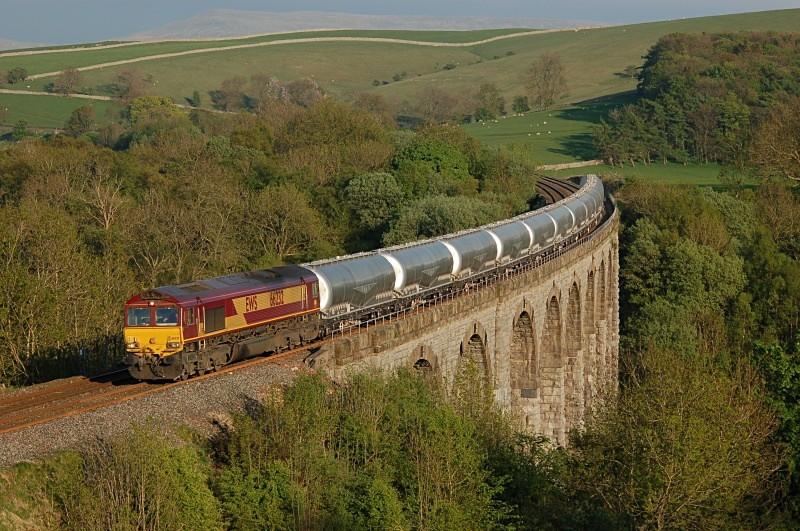 13.5.08 66232 6S00 Clitheroe - Mossend, Smardale Viaduct - Smardale viaduct
