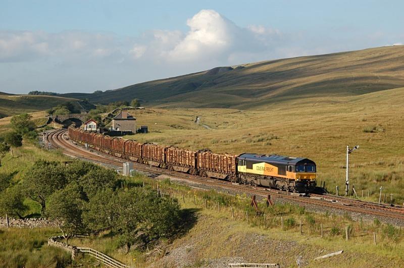 10.8.12 - 66848 6Z70 Ribblehead - Chirk, Blea Moor - Blea Moor