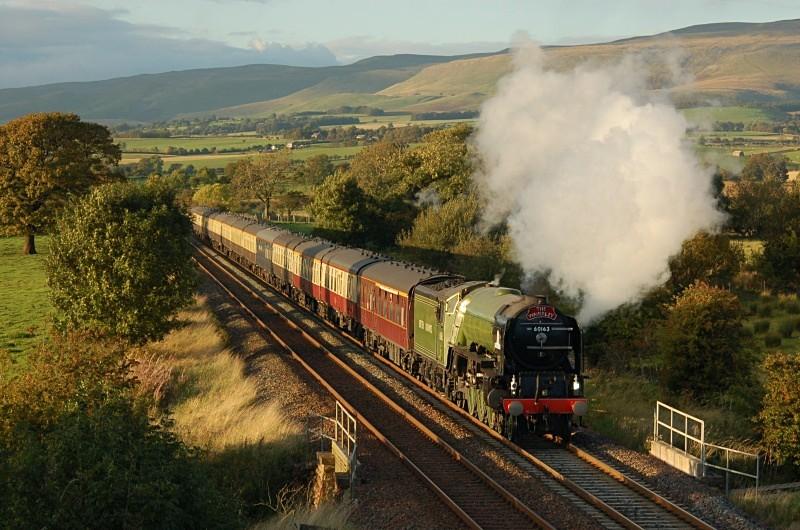 4.10.09 - LNER A1 'Pacific' 60163, 1Z93 Carlisle - York, Keld - Keld