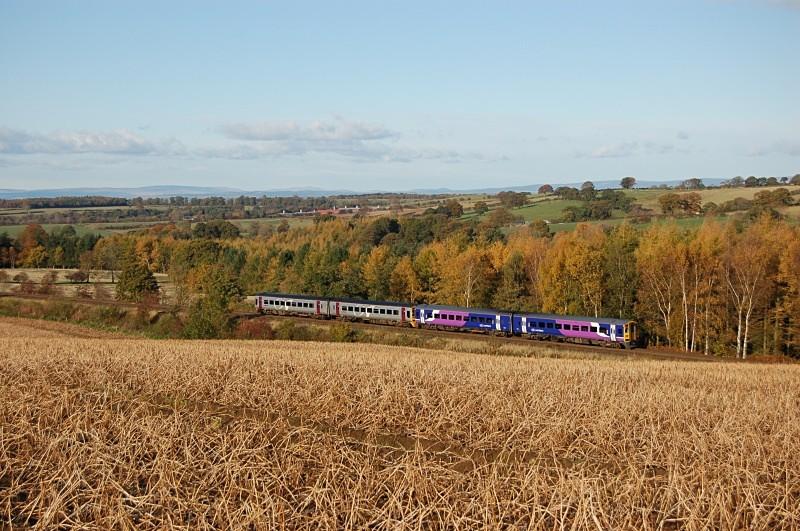 28.10.08 158903 & 158872 14.00 Carlisle - Leeds, Horrocks Crossing - Horrock's Crossing