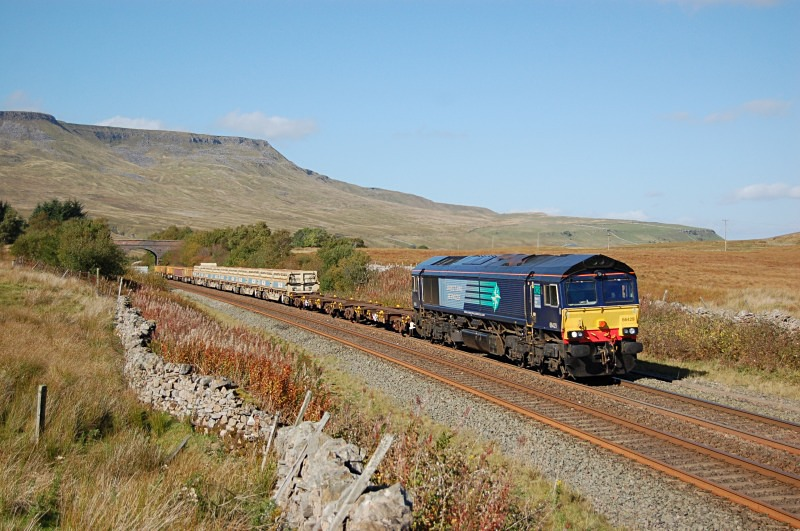 26.9.14 - 66429 6K05 Carlisle - Crewe, Ais Gill summit - Ais Gill - Summit