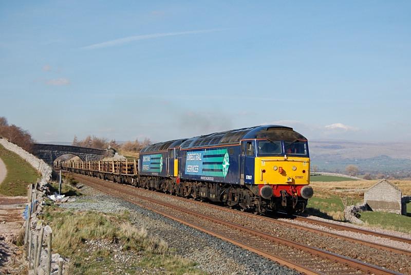 24.3.14 - 57007 & 57012 6K05 Carlisle - Crewe, Greengates - Greengates