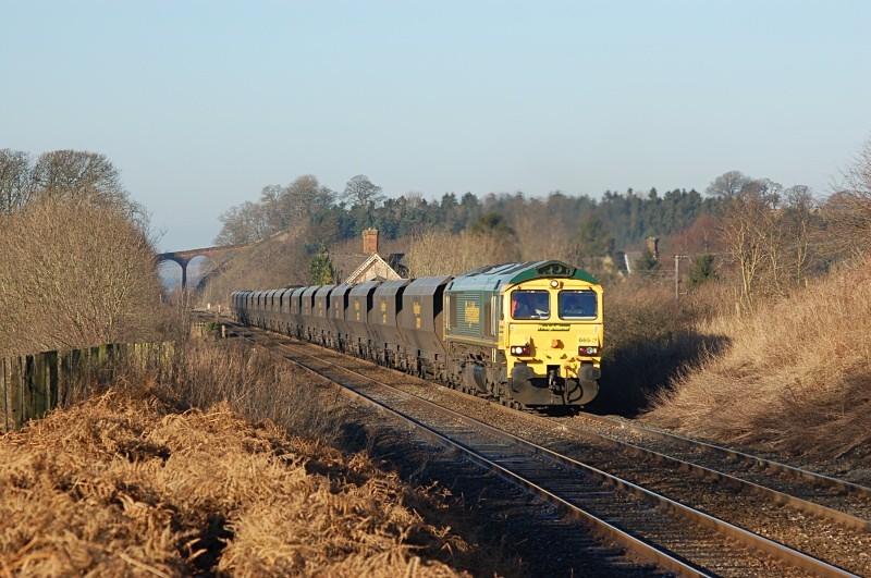 27.1.06 - 66513 6E36 Killoch - West Burton, Newbiggin - Newbiggin Station