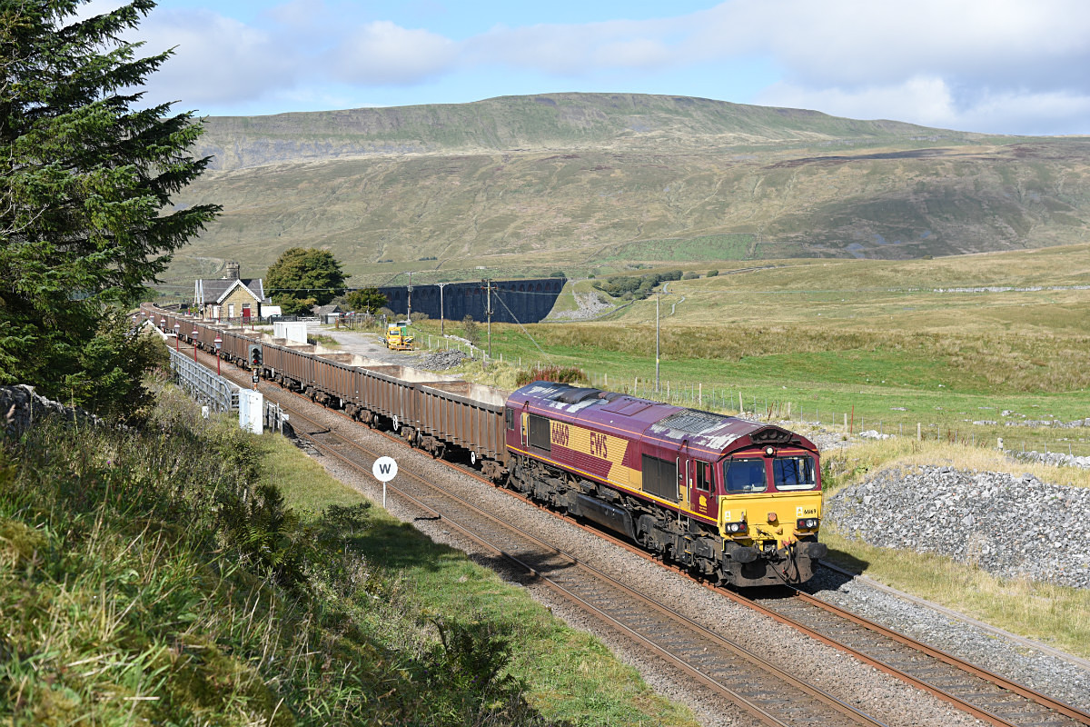 JL - 19.9.17 66169 6E95 Kirkby Thore - Hull CT, Ribblehead - Ribblehead