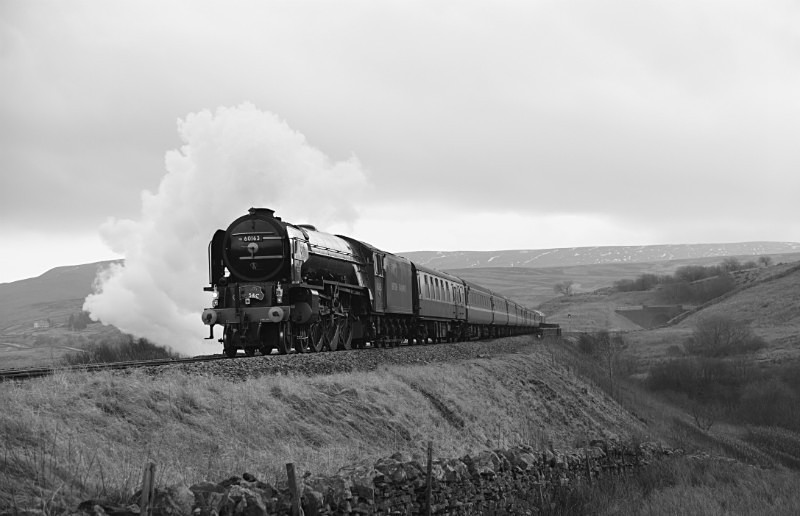JL - 15.2.17 60163 'Tornado' 2Z53 10.44 Skipton - Appleby, Lunds - Lunds - Northbound