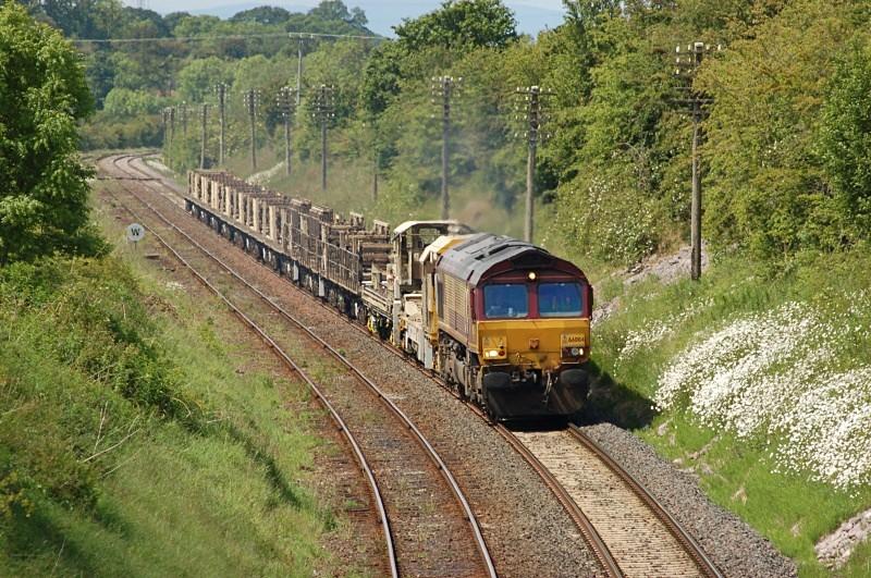 9.6.09 66004 6K05 Carlisle - Crewe Cotehill - Cotehill