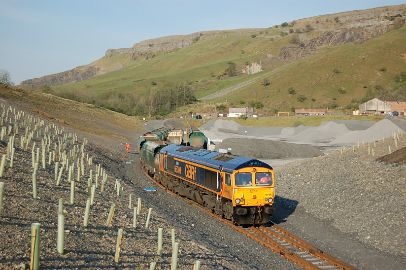 JL - 12.5.16 66708 6M69 Hunslet - Arcow, Arcow Quarry - Arcow branch