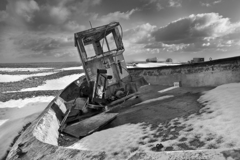 Boat wreck, Dungeness - Travels
