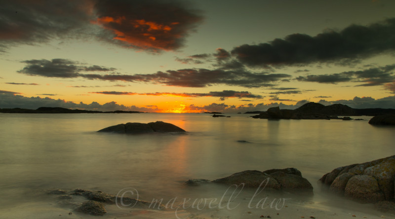 Sunset over Iona - Magic hour/s