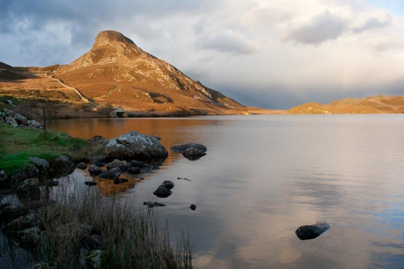 Cregannon Lakes Cadair Idris - Mountains, Moorland and pasture.