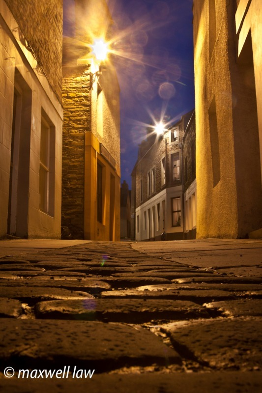 Stromness mainstreet at night - Travels