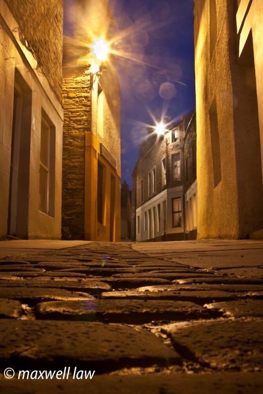 Stromness mainstreet at night - Travels