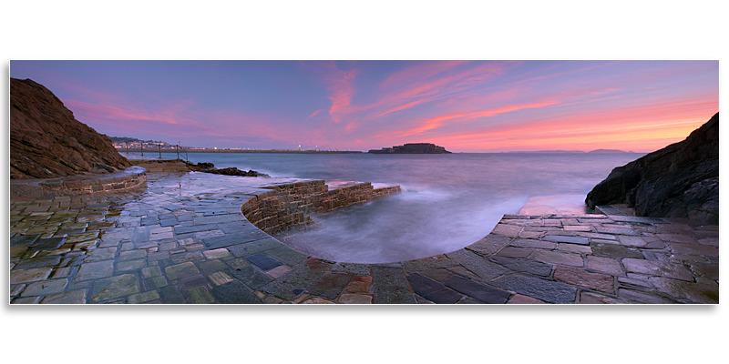 01095788 - Horseshoe Pool Panorama - Guernsey Landscapes - Panoramic