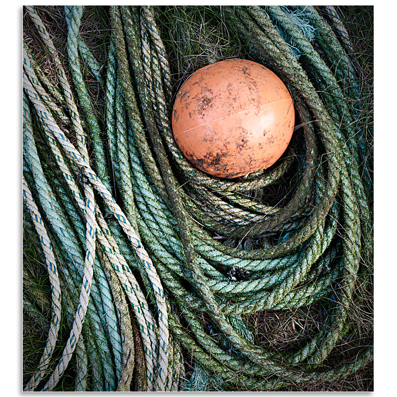 02142280 - Fishing gear, Saints Landing - Guernsey Landscapes - Visions Gallery