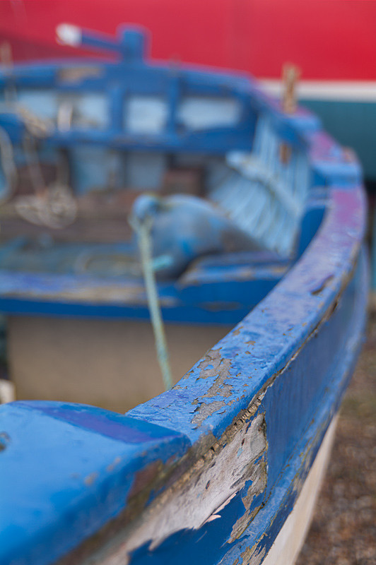Walberswick Blue Boat in the Harbour - Suffolk Pictures