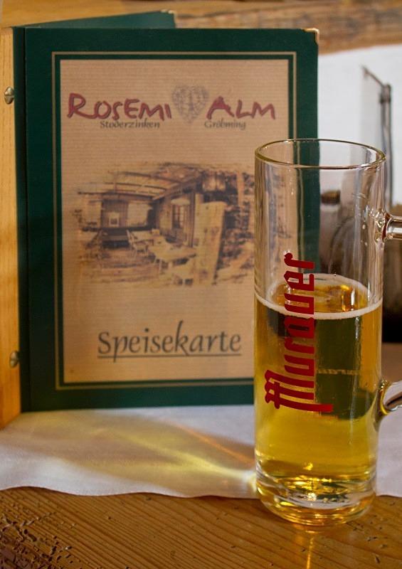 Rosemi Menu and Beer in ski hut, Austria - Austria