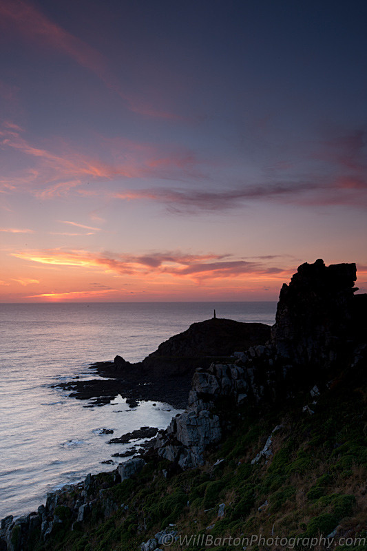 Cape Cornwall Sunset Photo by Will Barton Photography